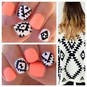 Coral tribal nails | Sexy nail designs | Pinterest ...