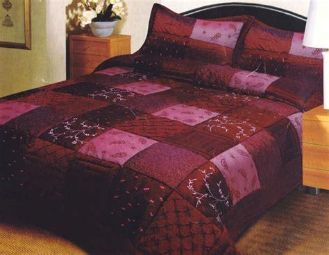 burgundy bedspread burgundy maroon quilted patchwork queen coverlet bedspread set brand new ebay