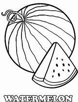 Watermelon Coloring Pages Drawing Slice Printable Cartoon Fruits Colorings Getdrawings Getcolorings sketch template