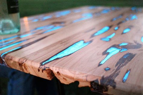 how to make a resin table top how to make glow in the dark table with photoluminescent