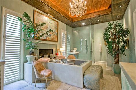 country club master bath tropical bathroom
