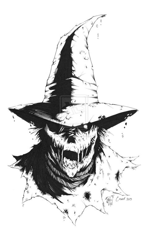 scarecrow scary drawing google search pinteres