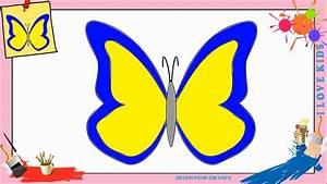 Dessin Facile Papillon : dessin papillon 4 comment dessiner un papillon facilement pour enfants youtube ~ Melissatoandfro.com Idées de Décoration