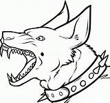 Dog Scary Teeth Sharp Coloring Pages Drawing Boys Categories Cool sketch template