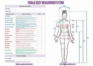 Body Measurements Worksheet Body Form
