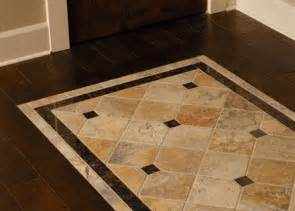 tile inlayed detail in wood floor match the shower to the travertine tile then match the