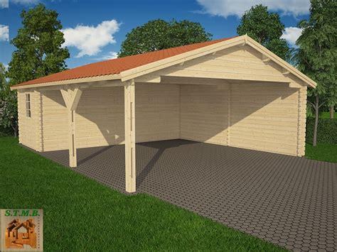 construire sa maison en bois pas cher 4 kit abri voiture en bois avec atelier attenant