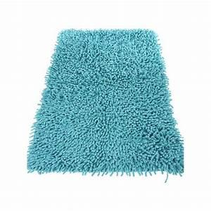 tapis de salle de bain 50x80cm turquoise With tapis salle de bain