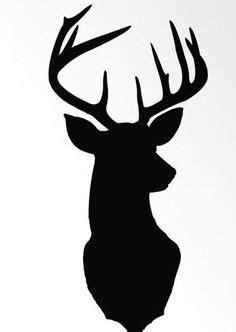 christmas printables deer head silhouette