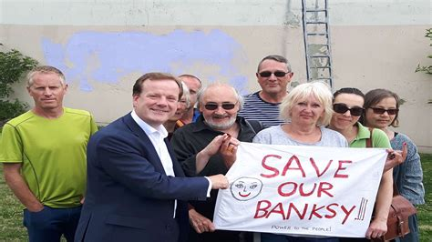 MP Charlie Elphicke launches Save our Banksy artwork ...