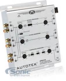 autotek atk2 3x 2 way or 3 way active crossover w subwoofer input