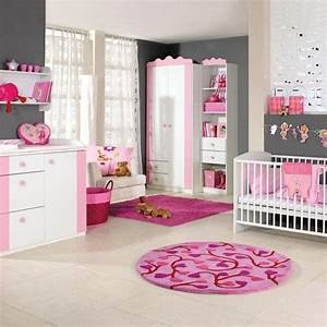 chambre bebe fille en gris et rose 27 belles idees a With tapis chambre enfant avec canapé cuir design luxe