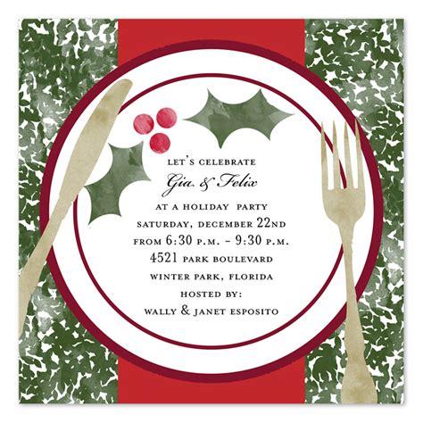 christmas dinner invitation template free holiday dinner