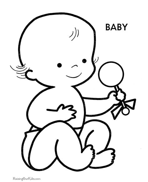 coloring pages babies coloring home