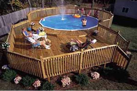 free pictures of above ground pool decks pdf diy above ground pool deck plans free