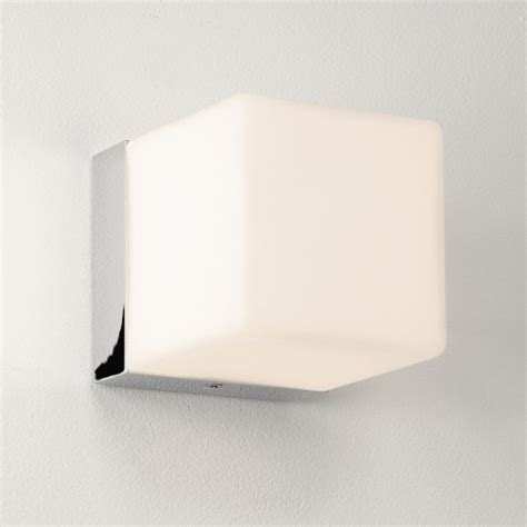 cube chrome bathroom light 0635 the lighting superstore