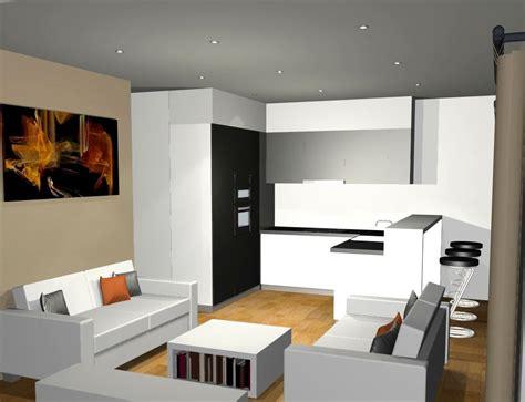 photo salon cuisine ouverte plan cuisine ouverte sur salon decoration idee deco
