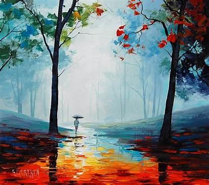 Autumn Rain Nature Rainy Fall Wallpapers Seasons