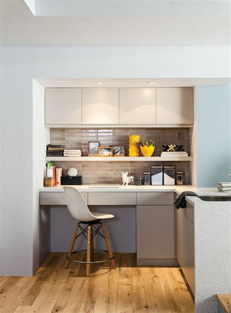 kitchen office nook residential kitchen and laundry contemporary kitchen chicago by fireclay tile