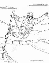 Coloring Pages Sports Skiing Printable Sport Freestyle Sheets Ski Sheet Found Disney sketch template