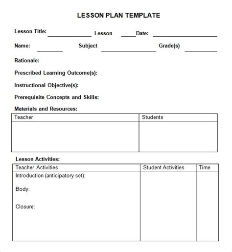 sample weekly lesson plan 7 documents in word excel pdf 750 | weekly lesson plan template for preschool