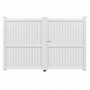 Leroy Merlin Portail : portail battant aluminium matisse blanc primo x h ~ Nature-et-papiers.com Idées de Décoration