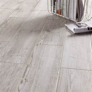 cuisine agreable carrelage imitation parquet gris With carrelage chambre imitation parquet