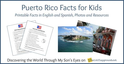 puerto rico facts  kids  spanish  english