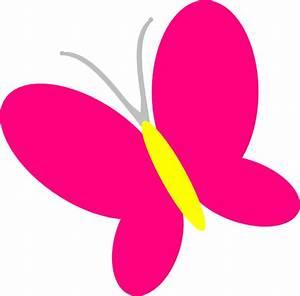 Pink Butterfly Clip Art at Clker.com - vector clip art ...