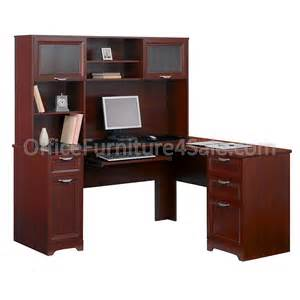 realspace magellan outlet collection 60 quot l shape plus hutch 63 5 8 quot h x 58 3 4 quot w x 18 3 4 quot d