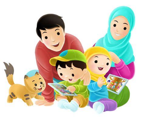 gambar animasi keluarga bahagia