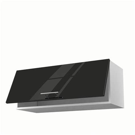 meuble haut cuisine 80 cm meuble de cuisine haut noir 1 porte h 35 x l 90 x p 35