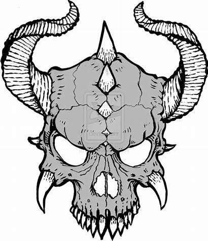 Skull Drawings Skulls Drawing Cool Horns Transparent