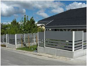 Muret De Cloture : cloture dessus de muret rev tements modernes du toit ~ Melissatoandfro.com Idées de Décoration