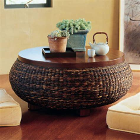 palecek havanawood coffee table  rattan wicker furniture