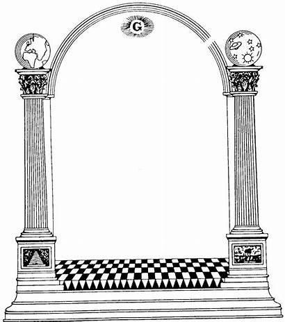 Masonic Clipart Lodge Columns Graphics Clip Column