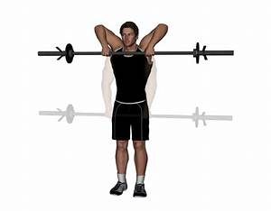 Barbell upright row exercise, muscle pharm assault pre workout