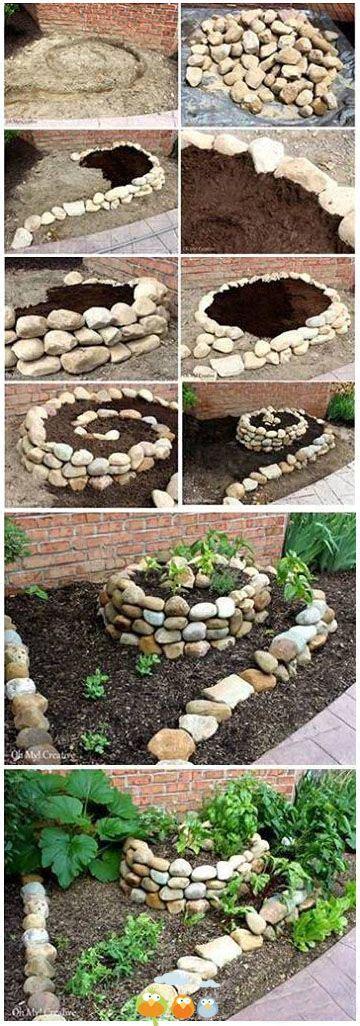 stone planters ideas  pinterest garden