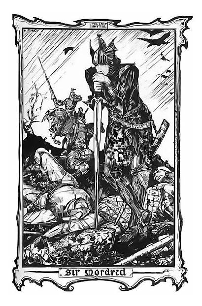Mordred Arthur King Sir Ford Merlin Table
