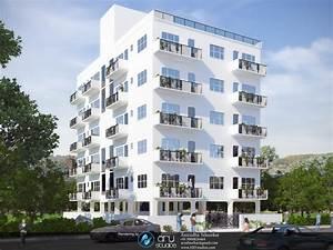 D Rendering Exterior Modern Apartment Building Design Blog ...