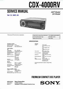 Sony Cdx L600x Wiring Diagram