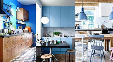 bleu orleans cuisine cuisine bleu 25 idées déco cuisine bleue