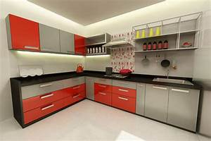 awesome modular kitchen designs black and white photos With modular kitchen designs red white