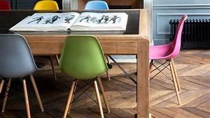 Chaises De Couleur Pour Salle A Manger : chaises d pareill es comment les assortir c t maison ~ Teatrodelosmanantiales.com Idées de Décoration