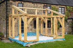 How To Make A Wooden Garden Bench by Oak Timber Framed Conservatory Hector And Cedric