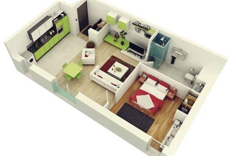 appartement 3 chambre 50 plans en 3d d appartement avec 1 chambres