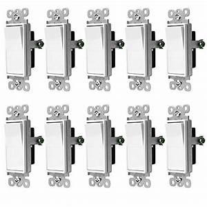 Enerlites Three Way Decorator Rocker Light Switch  3