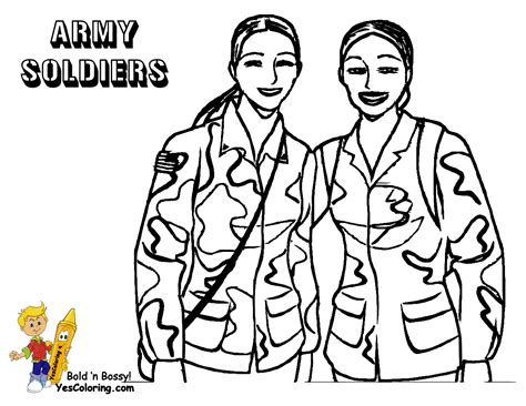 Noble Army Coloring Picture Yescoloring Soldiers