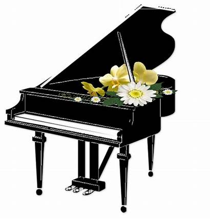 Piano Clipart Transparent Flowers Grand Clip Drawing