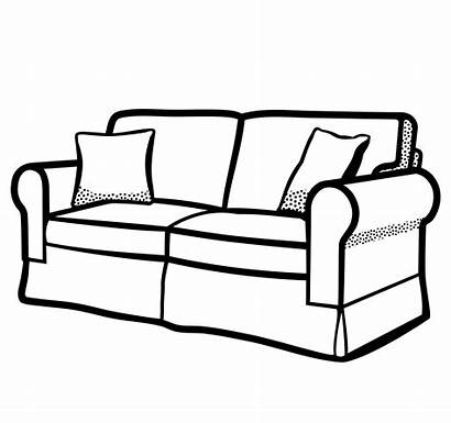 Clipart Couch Sofa Transparent Drawing Bed Webstockreview